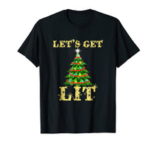 Load image into Gallery viewer, Let's Get Lit Funny Christmas Drinking T-Shirt