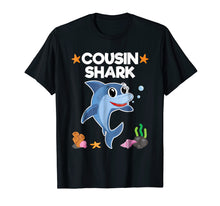 Load image into Gallery viewer, Cousin Shark Shirt Sister Brother Baby Shark Birthday Gift