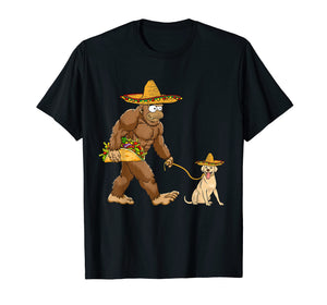 Bigfoot Taco Sombrero labrador Dog Cinco de Mayo T-shirts