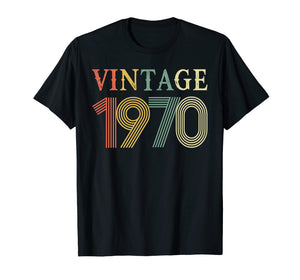 Retro Vintage 1970 T-Shirt 48 Years Old Birthday Shirt