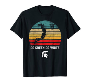 Michigan State Spartans Retro Basketball T-Shirt - Apparel