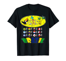 Load image into Gallery viewer, All 12 National Soccer Teams to Brazil with Samba T-Shirt