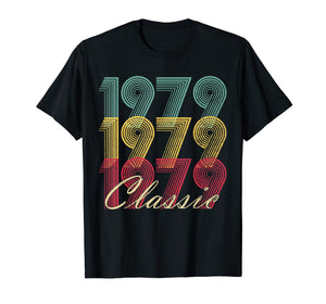 40th Birthday T Shirt Gift Vintage 1979 Mom Dad Classic