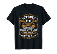 Load image into Gallery viewer, 81st Birthday Gift 81 Years Old Retro Vintage October 1938 T-Shirt