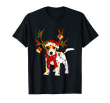 Load image into Gallery viewer, Santa jack russell gorgeous reindeer Light Christmas Lover T-Shirt