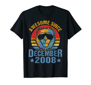 Lion 2008 Awesome December 11th Birthday Gifts Men King T-Shirt