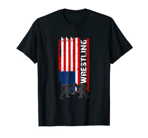 American Flag Wrestling Shirt | USA Flag Wrestling Shirt
