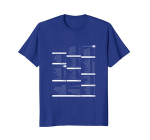 RegEx Cheat Sheet T-Shirt for Programmers