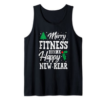 Load image into Gallery viewer, Merry Fitness And A Happy New Rear Workout Christmas Gift Tank Top