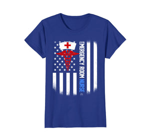 emergency room Nurse Shirt US Flag