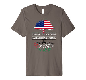 American Grown with Palestinian Roots - Palestine T-Shirt