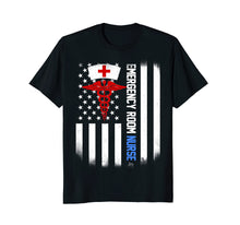 Load image into Gallery viewer, emergency room Nurse Shirt US Flag