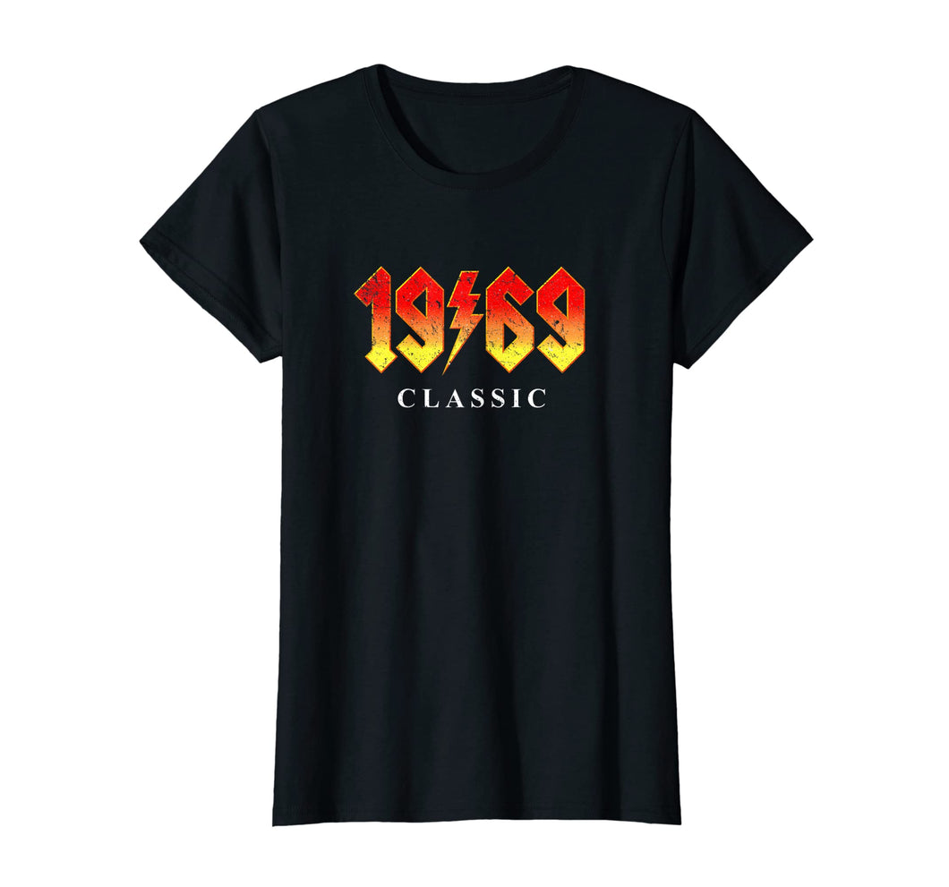 50th Birthday Gift T Shirt 1969 Classic Rock Legend