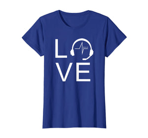 Love 911 Police Chat Operator Dispatcher Gift Idea T-Shirt