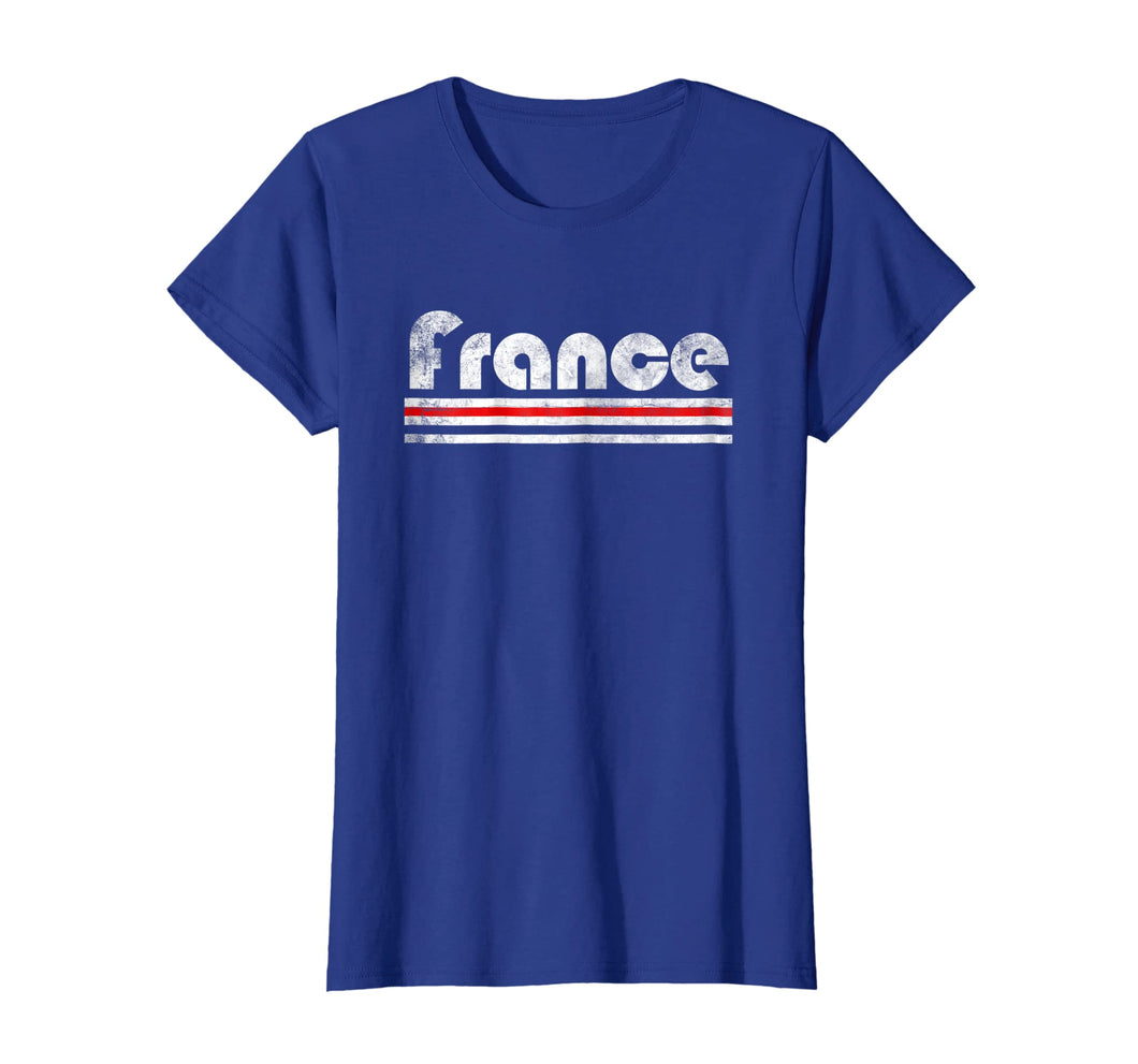 2018 France French Fan Retro Flag T-Shirt Allez Les Bleus