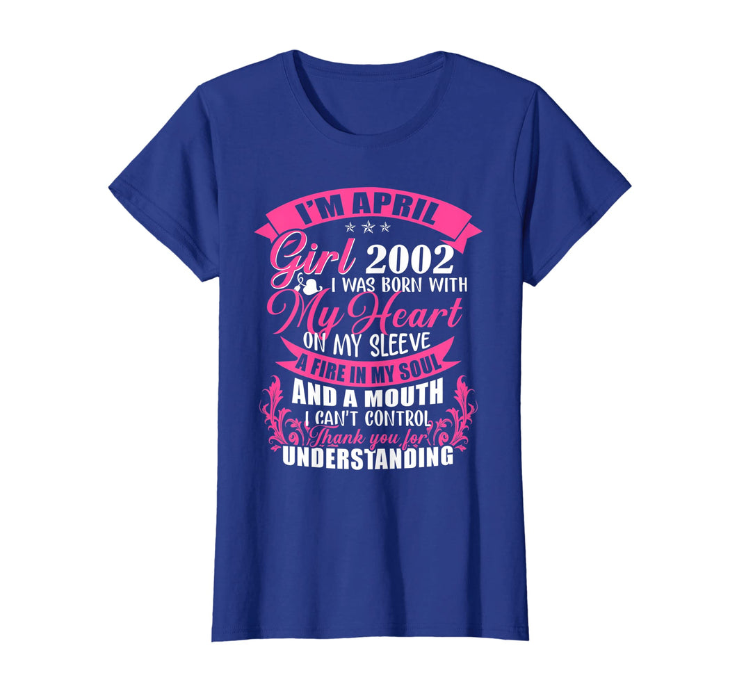 April Girl 2002 Shirt 17th Birthday Gift 17 Years Old
