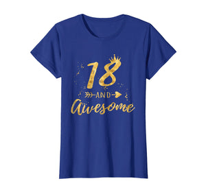 18th Birthday Shirt for Girl, 18 and Awesome Gifts T-Shirt