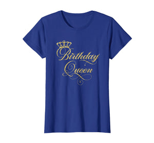Birthday Queen T-Shirt - Elegant Crown Design