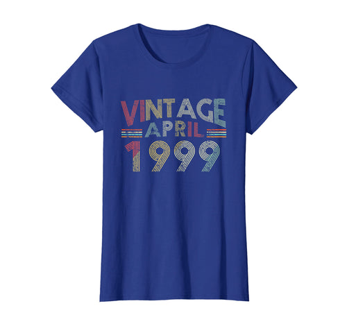 Vintage April 1999 20th Birthday Gift 20 Years old Funny Tee