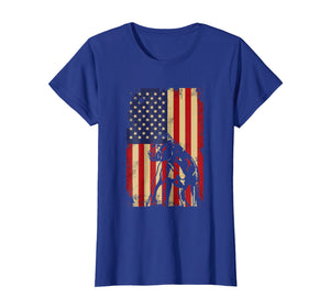 Pit bull American Flag 4th Of July Shirt