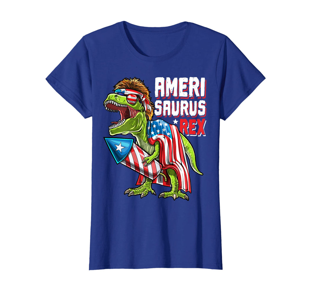 Amerisaurus Rex Dinosaur 4th of July Firework Shirt Kids