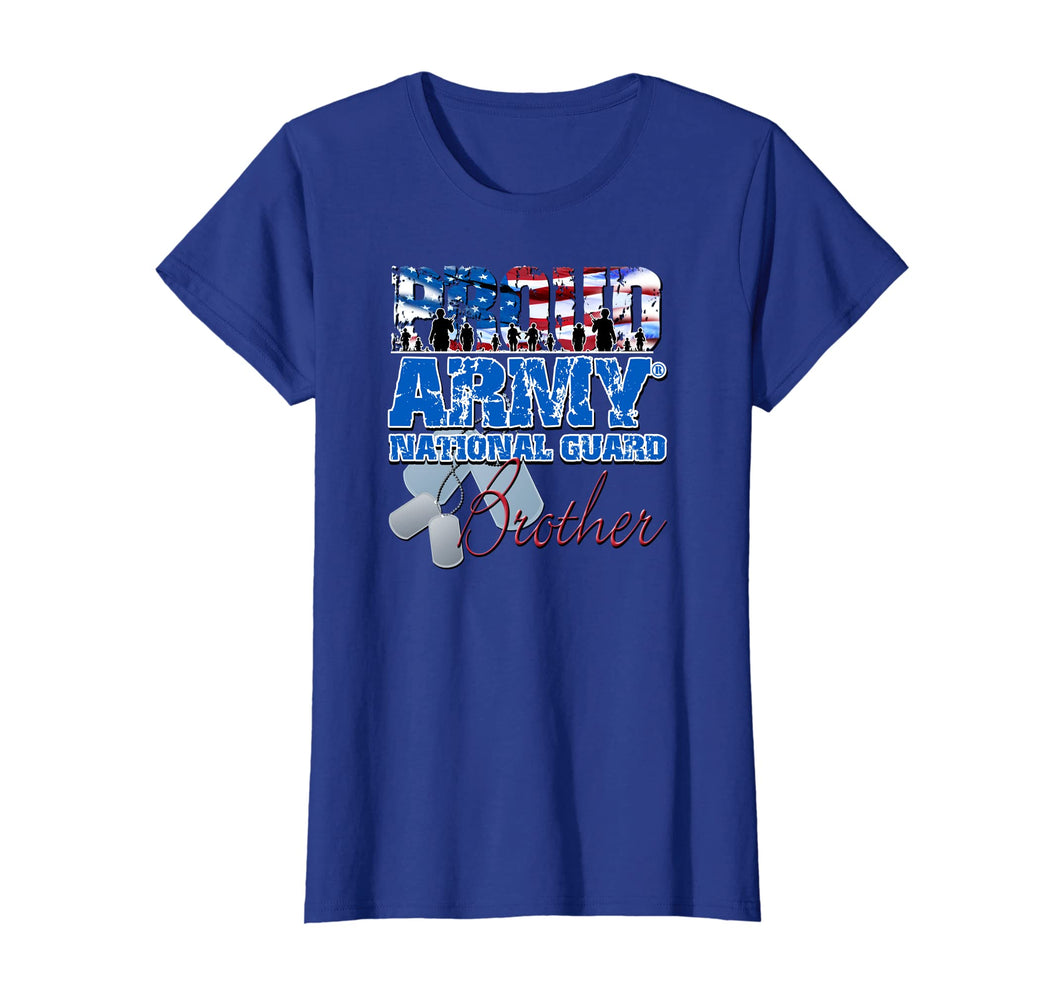 Proud Army National Guard Brother USA Flag Sibling Day Shirt