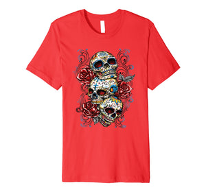 Sugar skull shirt Day of Dead shirt Dia de los Muertos shirt