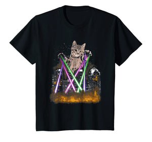 Kids Laser Cat T-Shirt -- The Fluffy Destroyer For Cat Lovers