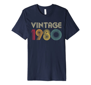1980 40th Birthday T Shirt Gift Vintage Classic Men Women