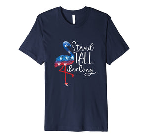 4th Of July Flamingo Shirt Women Girls American Flag Gift