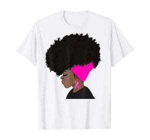 African American Breast Cancer Awareness t-shirt Black Women T-Shirt