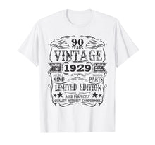 Load image into Gallery viewer, Made In 1929 90 Years Old Vintage 90th Birthday Gift T-Shirt