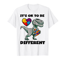 Load image into Gallery viewer, Autism Awareness Shirts Dinosaur Puzzle T Shirt