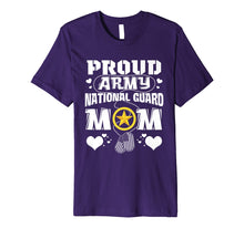Load image into Gallery viewer, Lovely Heart Proud Army National Guard Mom Tshirt Mother