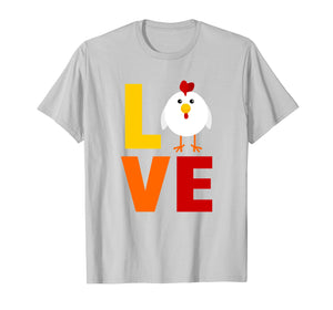 Love Chicken T-Shirt Colorful Farm TShirt
