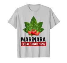 Load image into Gallery viewer, Marinara Legal Since 1692 Basil and Tomatoes T-Shirt