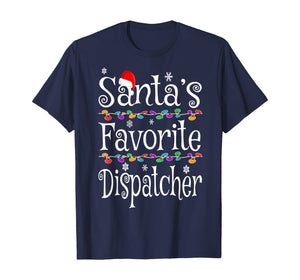 Santa's Favorite Dispatcher Funny Christmas Ornaments Gift T-Shirt