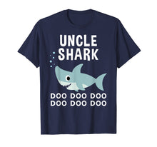Load image into Gallery viewer, Uncle Shark Doo Doo Shirt for Matching Family Pajamas
