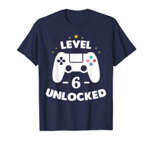 Load image into Gallery viewer, Level 6 Unlocked Gamer Shirt sixth Birthday Party Gift Boy