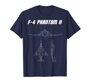 F4 Phantom Shirt Supersonic U.S. Military Jet Tee