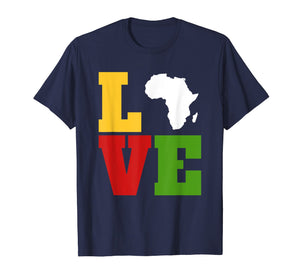Africa Love Shirt, Afrocentric T Shirts, African Art Gifts