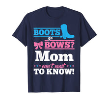 Load image into Gallery viewer, Boots or Bows Shirt for Mom Gender Reveal Party Gift