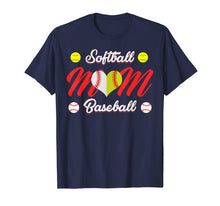 Load image into Gallery viewer, Baseball Heart T Shirt, Gift for Softball Mom or Dad, Team