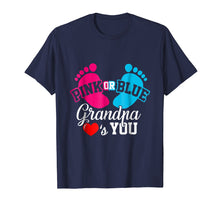 Load image into Gallery viewer, Baby Gender Reveal Pink or Blue Grandpa Loves You T Shirt