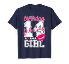 Load image into Gallery viewer, 14th Birthday Kiss TShirt Fabulous Girl Kissing Lips College