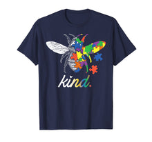 Load image into Gallery viewer, Bee Kind Beautiful Autism Awareness Gift Tee Shirt Puzzle