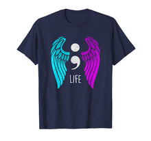 Load image into Gallery viewer, Suicide Awareness T-Shirt - Semi colon Angel