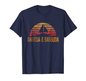 Antigua & Barbuda Sailing T-Shirt Retro Sailboat