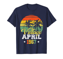 Load image into Gallery viewer, April 1967 T-shirt Retro Vintage 52nd Birthday Decoration