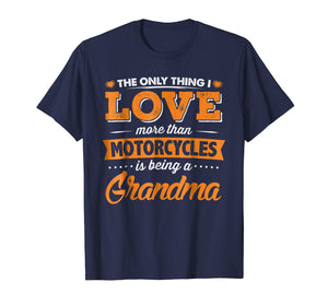 Proud Biker Grandma T-Shirt - Love Motorcycles and Grandkids